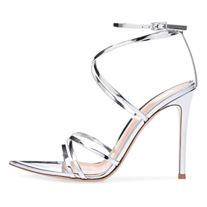 66d7cf32acf85 Amazon.com: KJJDE Premium Women's High Heel Sandals T-B3 Sexy Buckle ...