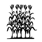 Corn Row Silhouette - Large, Black - Vinyl Wall Art Decal for Homes, Offices, Kids Rooms, Nurseries, Schools, High Schools, Colleges, Universities, Interior Designers, Architects, Remodelers