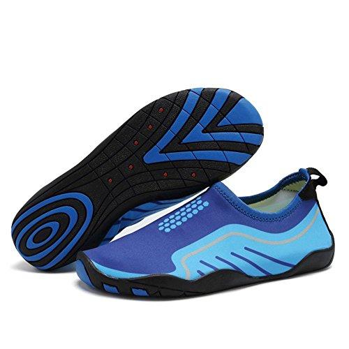 CIOR Männer Frauen Barfuß Quick-Dry Wasser Sport Aqua Schuhe mit 14 Drainage Löcher für Schwimmen, Walking, Yoga, See, Strand, Garten, Park, Fahren Hellblau
