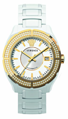 Versace Unisex 02ACP11D001 SC01 DV One Analog Display Automatic Self Wind White Watch