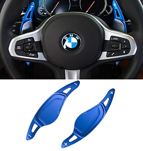 - Jaronx Paddle Shifter Extension For BMW 3 5 6 7 X3 X4 X5,G20 G30 G31 G32 G12 G01 G02 G05, Aluminum Metal Steering Wheel Paddle Shifter Extensions (G Series-Blue)