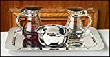 Stratford Chapel Glass Cruet Set with Bowl and Tray, 4 Inch
