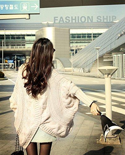 ADS - Cárdigan - Básico - Clásico - Manga Larga - para mujer Beige