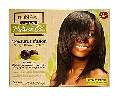 Brazilian Pataua Oil Moisture Infusion No-Lye Relaxer System - Extra Strength (Lye Relaxer System)