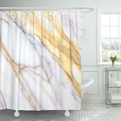 Emvency Decorative Shower Curtain Gray Black Marble Abstract Construction Industry Folk Living Luxury Building 66