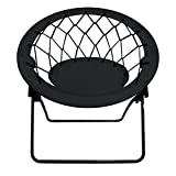 Impact Canopy Web Bungee Chair, Lightweight Portable Folding Chair for Indoor and Outdoor Use, Black
