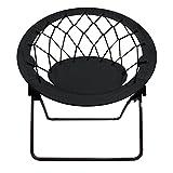 Impact Canopy Bungee Chair, Portable Folding Chair, Web, Black