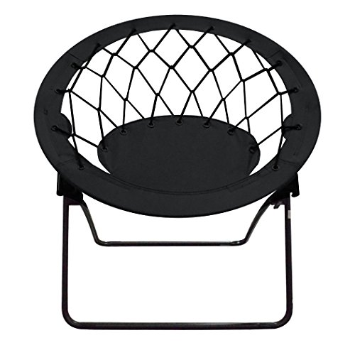 Bungie Chair (Impact Canopy Web Bungee Chair, Lightweight Portable Folding Chair for Indoor and Outdoor Use, Black)