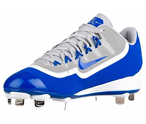 La Huarache Hommes Nike 2kfilth Crampon Clé De Voûte De Baseball Mi Loup Gris / Jeu Royal / Blanc
