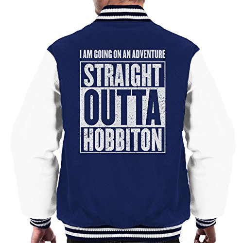 white Of The Rings Jacket Hobbiton Lord Navy Straight Men's Varsity Outta xItAwwvT