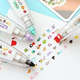 Chris.W 5Pcs Novelty Cute Cartoon Correction Tape