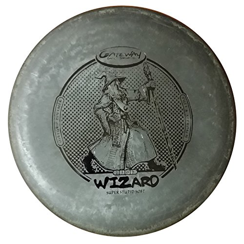 Gateway Wizard Super Stupid Soft (SSS) Disc Golf Putter - Black (Wizard Gateway Disc Soft Super)