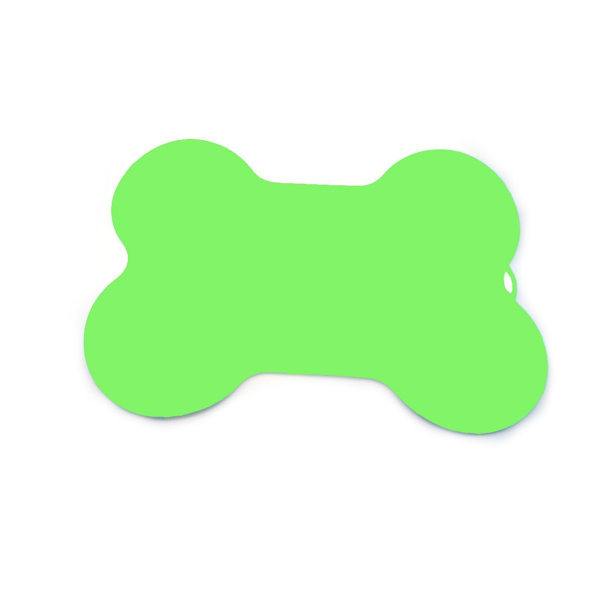 SHOWHASH Feeding Mat, Silicone Waterproof Pet Food Mat, Non Slip Dog Bowl Placemat for Small, Medium & Large Dogs, Cats (Green, Bone-shaped)