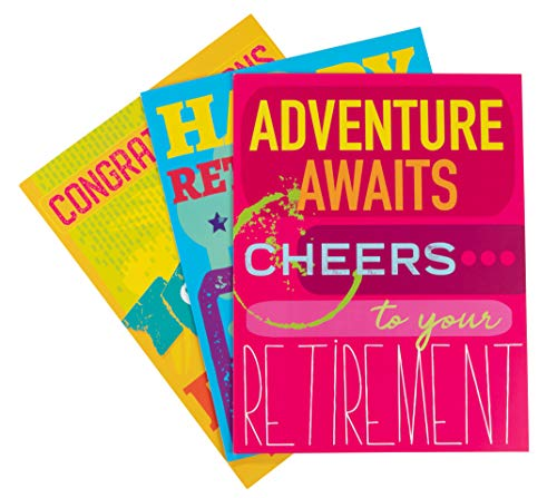 Best Paper Products 3-Pack Large Jumbo Retirement Farewell Cards with Envelopes, 8.5 x 11 Inches Letter-Size for Coworkers, Employee, Boss, 3 Designs -