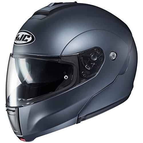 (HJC Solid Men's CL-MAX 3 Modular Street Motorcycle Helmet - Semi Flat Anthracite/Small )