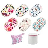 Babygoal 12 Pack Breast/Breastfeeding Pads, Reusable Washable Bamboo Nursing Pads with Mini Wet Bag and Laundry Bag 12NP02-CA