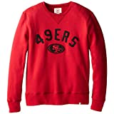 NFL San Francisco 49ers Men's '47 Brand Cross-Check Crew Neck Pullover, Rescue Red, Large