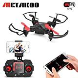 Metakoo Mini Drone for Kids, Quadcopter with WiFi FPV HD Camera, Altitude Hold, 4 Channels 6-Axis Gyro, Headless Mode, One-Key Takeoff/Landing/ Return, Trajectory Flight, Gravity Sensor, 3D Flips, M2