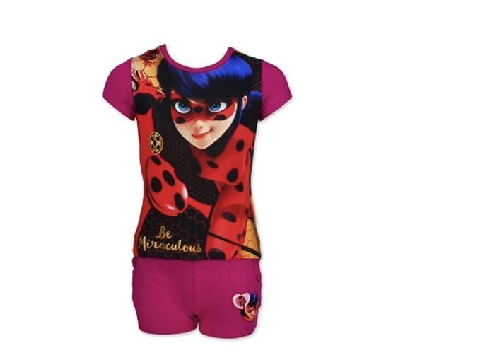 Miraculous Ladybug Pijama - para niña fucsia 104 cm