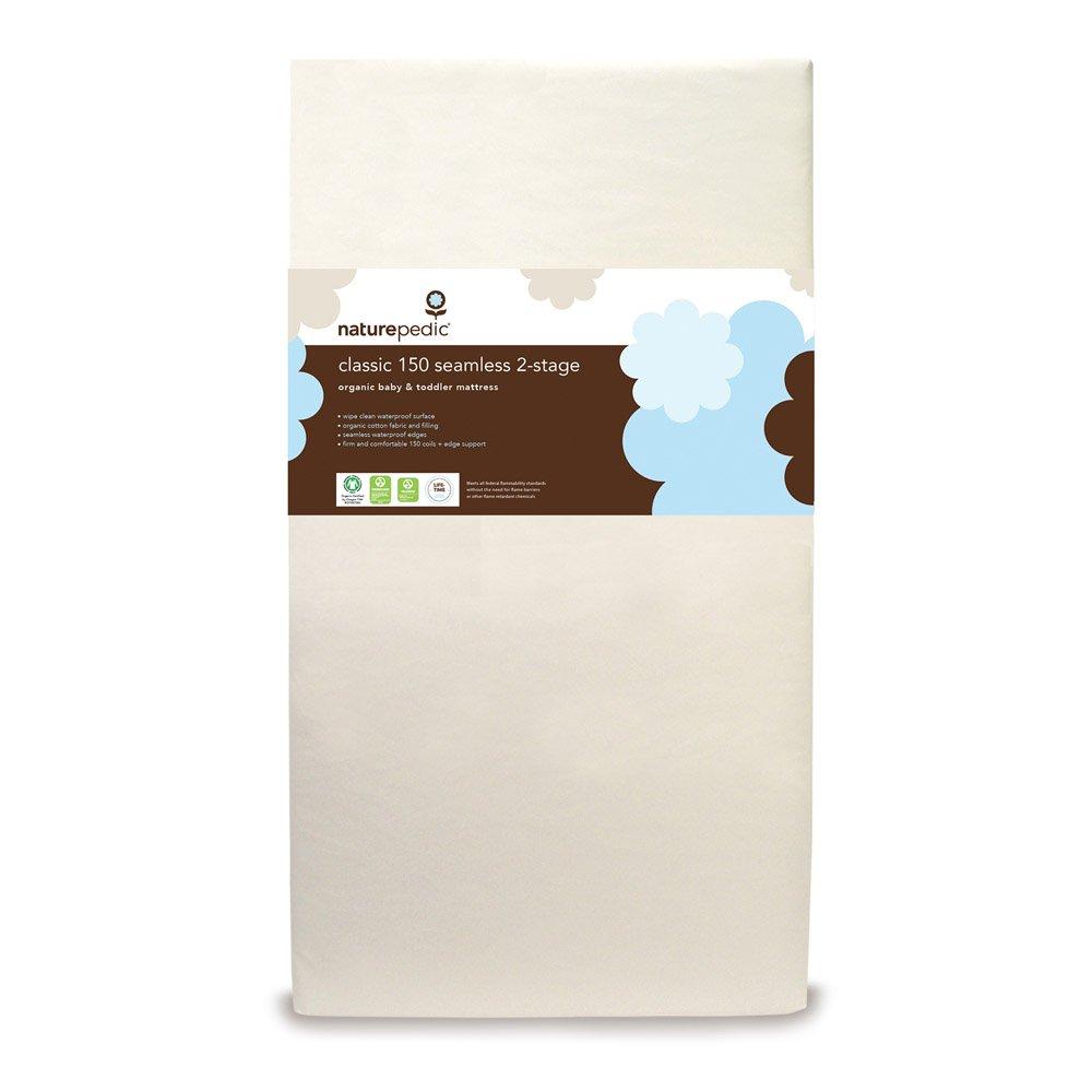 "Naturepedic No Compromise Organic Cotton Classic 150 Seamless Dual Firmness Crib Mattress - 28"" x 52"" x 6"""