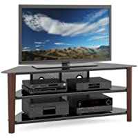 CorLiving TAL-694-T Alturas Veneer TV Stand, 60-Inch, Dark Espresso Wood