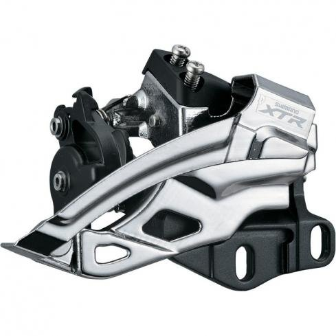 SHIMANO XTR FD-M985 Top Swing, Dual-Pull Front Derailleur, Grey, E-Type Mount for 44-40T