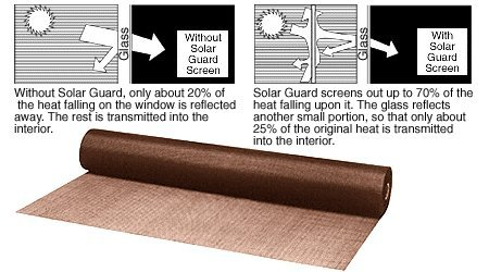 CRL 36'' x 100 ft Bronze Color Solar Screen Wire - Roll by C.R. Laurence
