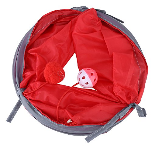 outlet Pet Tunnel Kitten Playing Tube Collapsible Tunnels Pet Toys with Tinkle Bell Plush Ball