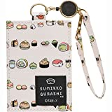 Sumikko Gurshi, Sushi id buss Pass card case holder w/ reel sushi party SAN-X