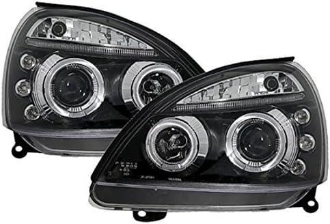 KG Angel Eyes Scheinwerfer Set in Klarglas Schwarz AD Tuning GmbH /& Co
