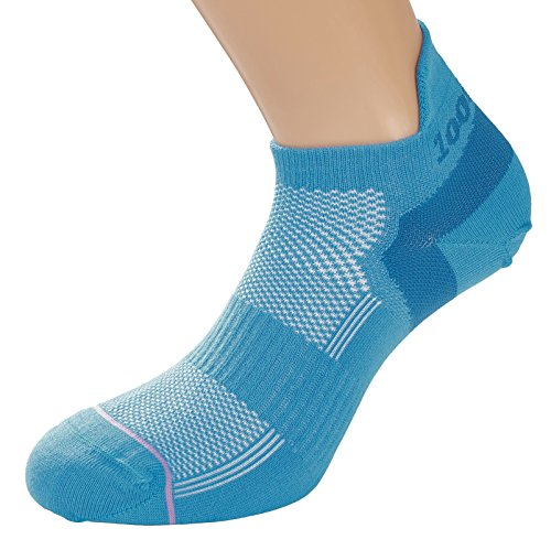 1000 Mile Women's Trainer Liner Sports Socks, Teal, Small