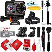 Veho Muvi K-Series K-2 PRO 1080p 12MP HD Waterproof 4K Camera with 32GB + Hand Grip + LCD + Floating Grip + Head Strap + Tripod Mount VCC-007-K2PRO