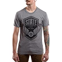 State Bicycle Co Men's Wings T-Shirt Gray