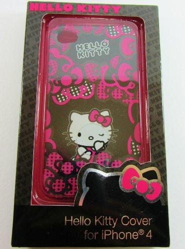 Hello Kitty Schutzhülle für Apple iPhone 4, Pink/Schwarz