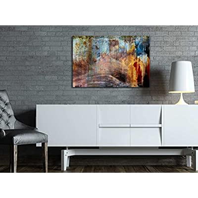 Delightful Visual, With Expert Quality, Abstract Splatter Color with Rusty Texture Wall Decor