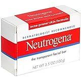Neutrogena Pain nettoyant transparent pour le visage - Formule anti-acné - Unisexe - 100 g