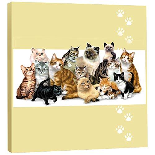 (Tree-Free Greetings 85533 EcoArt Wall Plaque, 11.25 by 11.25 by 0.5-Inch, Kitten Crew)