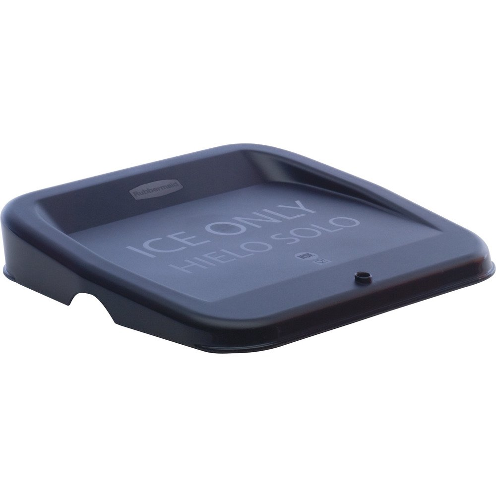 Rubbermaid Commercial FG9F7300BLA Ice Tote Lid, Legend, Ice Only, Hielo Solo, Rectangular, Black