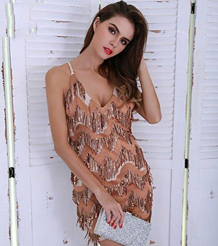 Missord Missord Gold Damen Damen Kleid Cocktail 4cxqw5Zzw8