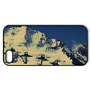 Ski Lift, Winter Watercolor style Cover iPhone 5 and 5S Case (Winter Watercolor style Cover iPhone 5 and 5S Case)