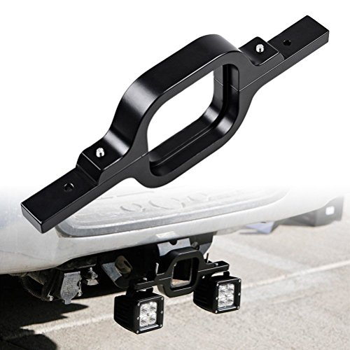 Eternalpower Tow Hitch Mount Bracket Universal Fit for Dual LED Backup Reverse Lights Rear Search Lighting Off-Road Work Lamps Backup Light Adapter For Truck SUV Trailer RV
