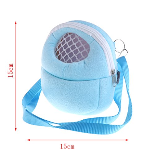 al Pet Carrier Bag for Small Pets, Free Travel Bowl, Locking Safety Zippers,Washable Soft Insert, Perfect for Train, and Car Travel (S) ()