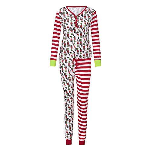 Matching Family Christmas Pajamas Set,Vanvler Xmas Women Kid Men Fun PJs Sleepwear Nightwear Clearance (2XL, Women)
