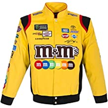 2017 Kyle Busch M&M's Mens Yellow Twill Nascar Jacket by JH Design