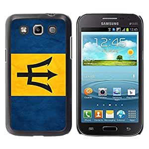 Paccase / SLIM PC / Aliminium Casa Carcasa Funda Case Cover - National Flag Nation Country Barbados - Samsung Galaxy Win I8550 I8552 Grand Quattro
