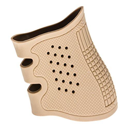 Glock Grip Sleeve,Gun grip,Tactical Grip Gloves,Rubber Sleeve Fits GLOCK17 / 19 / 20 / 21 / 22 / 23 / 31 / 32 / 37 / 38 (Desert sand)
