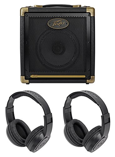Peavey Ecoustic 20w Acoustic Guitar Amplifier Amp w/ 2-Ch.+8'' Speaker+Headphones by Peavey