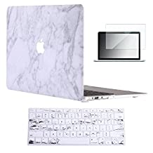"Vasileios 3in1 Rubberized Frosted Soft-touch Hard Shell Case Cover for 13-inch Macbook Air 13.3"" (Model: A1369 and A1466) (Marble 01)"