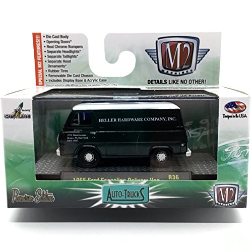 M2 Machines 1965 Ford Econoline Delivery Van Auto-Trucks Series Release 36-2015 Castline Premium Edition 1:64 Scale Die-Cast Vehicle (R36 15-76)