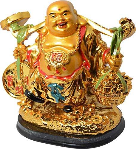 OMG-Deal Feng Shui - Traje de pie para Hombre Feliz, Travieso, Buda para la Buena Suerte, el Desgaste, la Prosperidad en casa, la Oficina